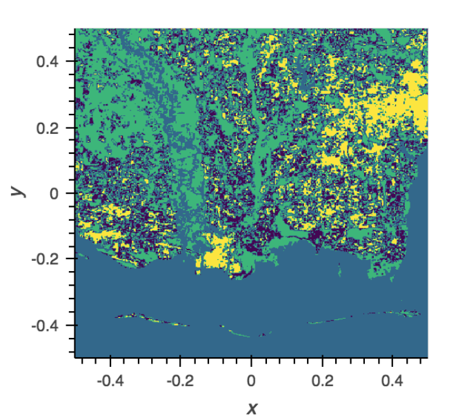Unsupervised clustering of LANDSAT data